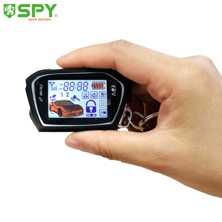 2019 hot koop two way LCD remote engine start auto alarm auto beveiliging systeem