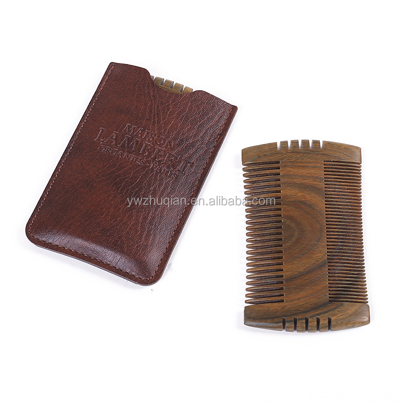 High quality cheap ebony personality beard comb and bulk hair comb set