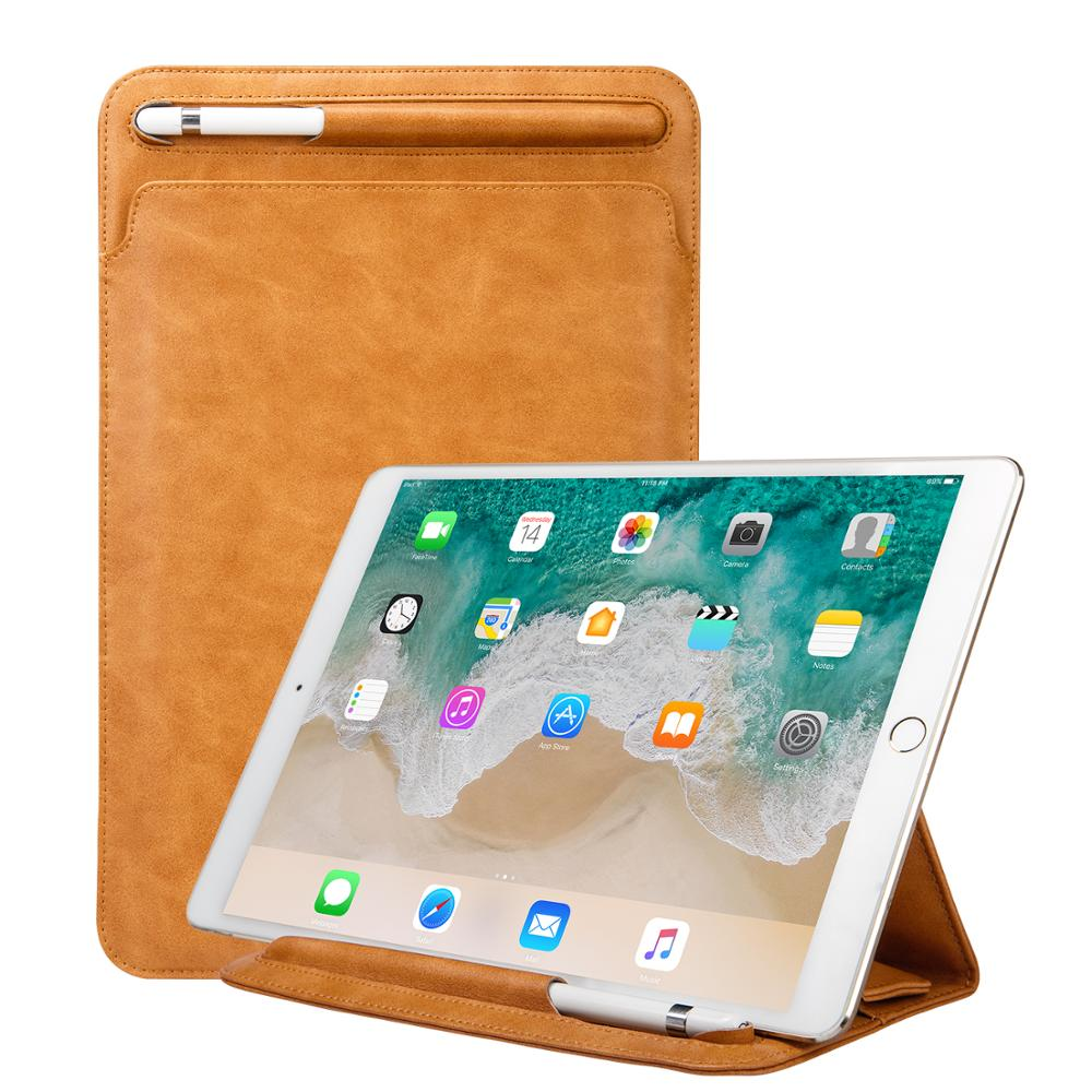 Jisoncase New Arrival Fashion PU Leather Case for <strong>iPad</strong> Pro 11 inch with Pencil Slot 2018