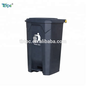 Big Size Indoor Plastic Pedal Garbage Container 87 Liters Plastic Containers