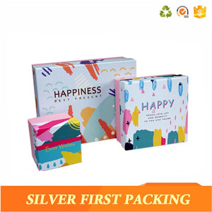 Custom size logo printing Happiness Best wishes luxury perfume packagning box