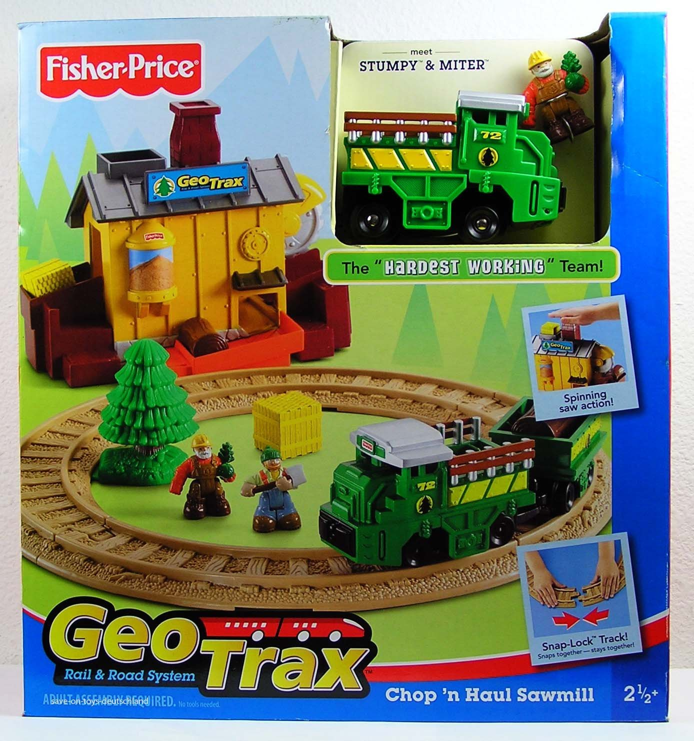 Fisher Price GeoTrax Chop'n Haul Sawmill Year 2007