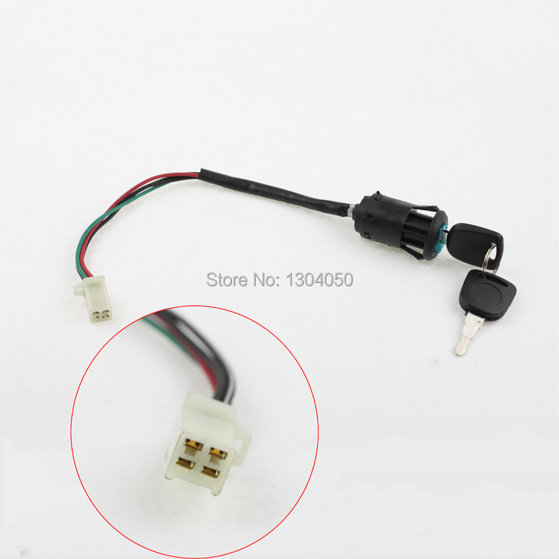 4 wire ignition key switch for 49cc 50cc 70cc 90cc 100cc. Black Bedroom Furniture Sets. Home Design Ideas