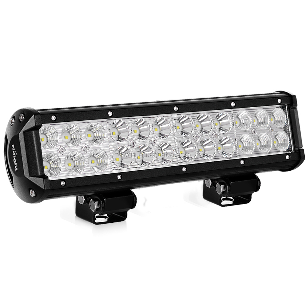 "High quality Long shooting range auto light offroad 72W LED LIGHT BAR 11.8"" super bright with 1260lm"