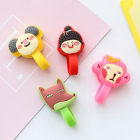 multi-function cartoon earphone cables winder silicone earphone cable wire organizer winder