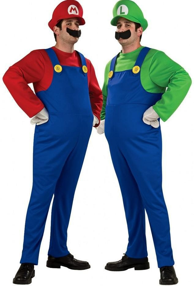 Get Quotations · Adult Mens Super Mario Luigi Brother Fancy Dress Costume Nintendo Video Game Party Dress Up Jumpsuit  sc 1 st  Alibaba : luigi costume accessories  - Germanpascual.Com
