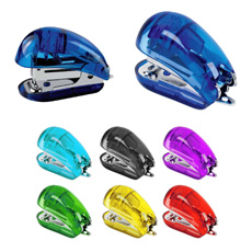 Giveaway favorable price high quality mini pocket eco-friendly plastic stapler with staples holder and staples remover