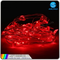 Mini Battery box and mini bulb warm white colorful firefly lights copper wire led string lights
