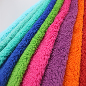 china manufacturer fleece polyester faux fur sherpa dye wholesale garment and blanket fabric