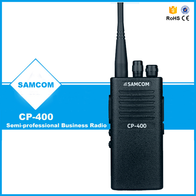 SAMCOM CP-400 CE ROHS with high power and 1800MaH battery 2 way radio transmitter price