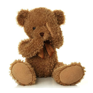 Stuffed Fuzzy Animals toys Shy Teddy Bear with magnetic Baby Boy Girl kids Plush Toy