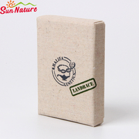 sunnature custom natural canvas material gift makeup packaging box