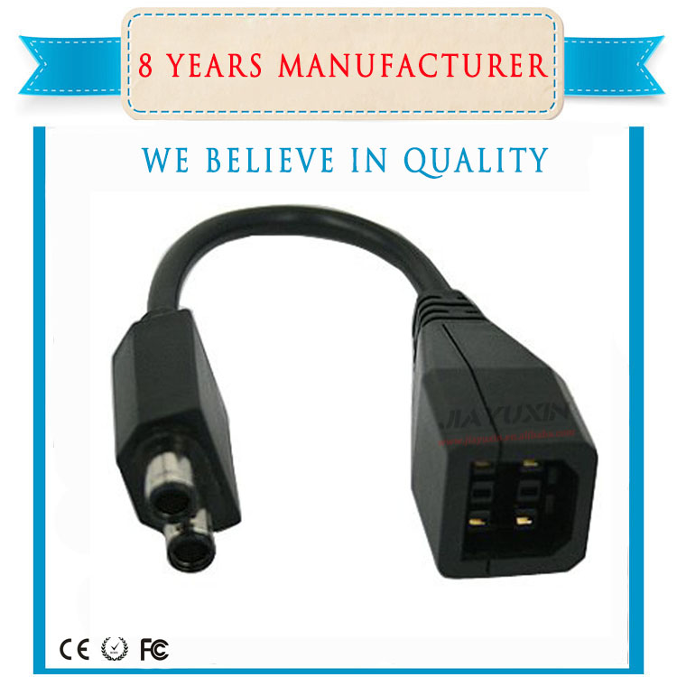 For 360 Slim Power Supply Convert Converter AC Adapter Adaptor Transfer Cable Black