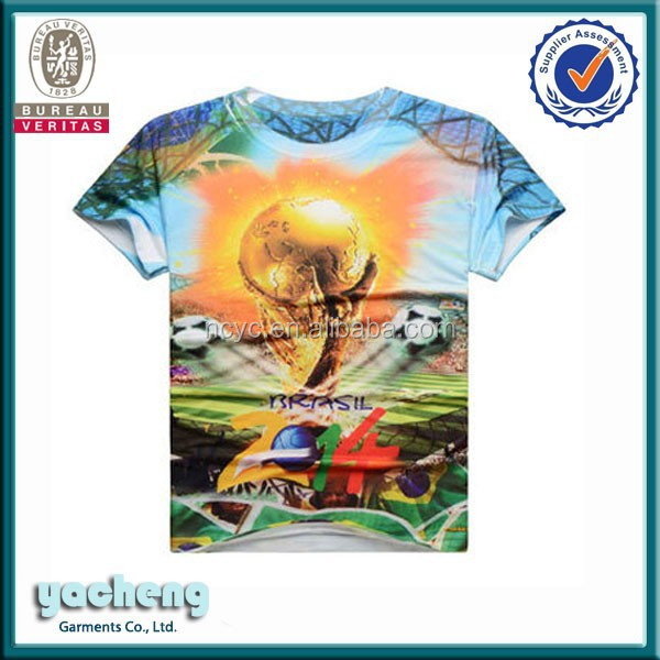 OEM manufacturer all over shirt printing 100%polyester 3d printing t shirt personalized