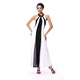 White And Black Hot sale Casual Maxi Dress Long Cotton Dresses For Women
