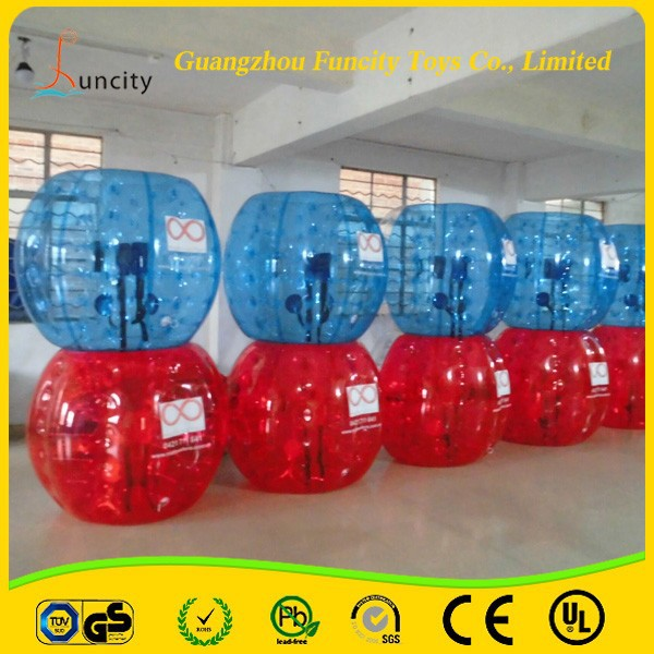 Human custom size bubble football soccer, inflatable human soccer bubble for kids and adults