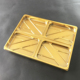 PET golden silver yellow brown plastic packaging tray container anti-freeze frozen food tray