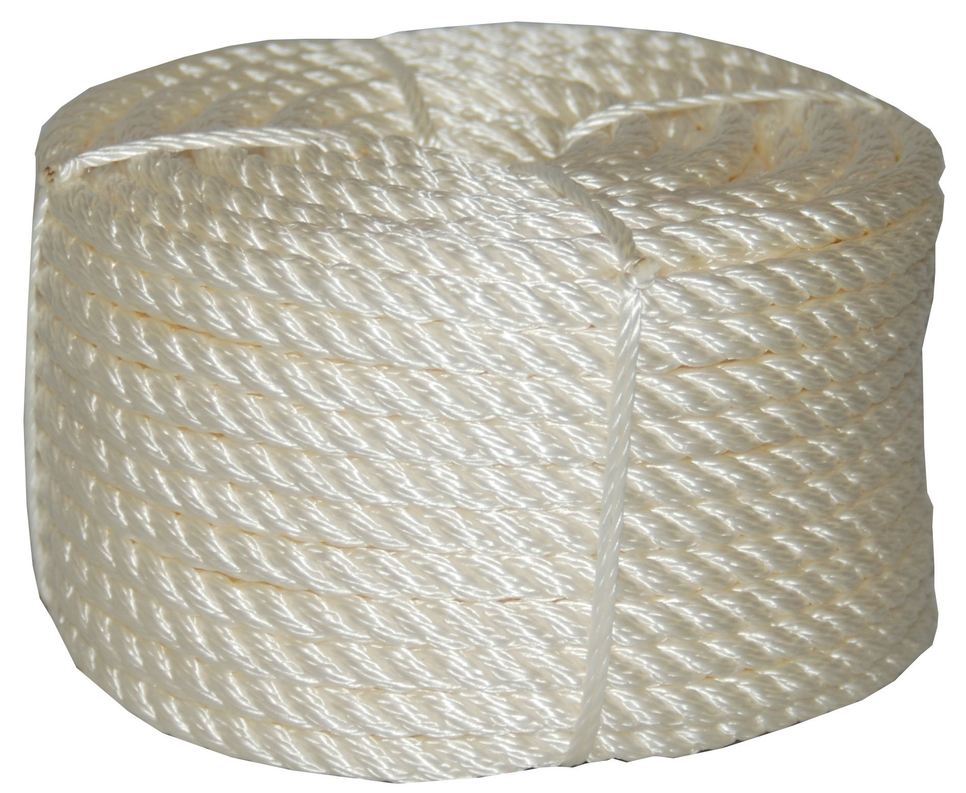 1//4-Inch Solid Braid Nylon Rope 50-Feet Hank