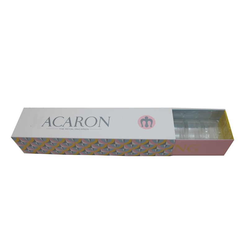 Custom clear plastic macaron packaging box wholesale