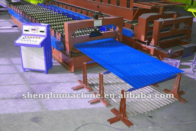 corrugated tile forming machine , steel plate device