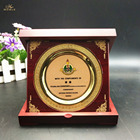 Wholesale Custom Design Shield Award Wooden Trophy Plaque with Box