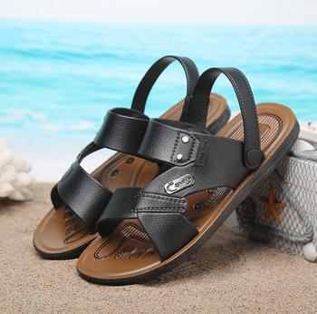 ae4e9f388 X86113A cheap wholesale pvc man beach slipper sandal 2017 men leather  sandals and slippers shoes