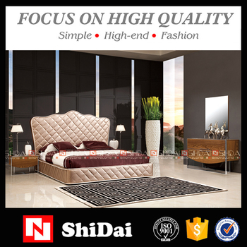 new model double bed design furniture / latest cheap bedroom sets