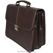 Custom Classical design your own leather briefcase bags western style businessman combination lock briefcase