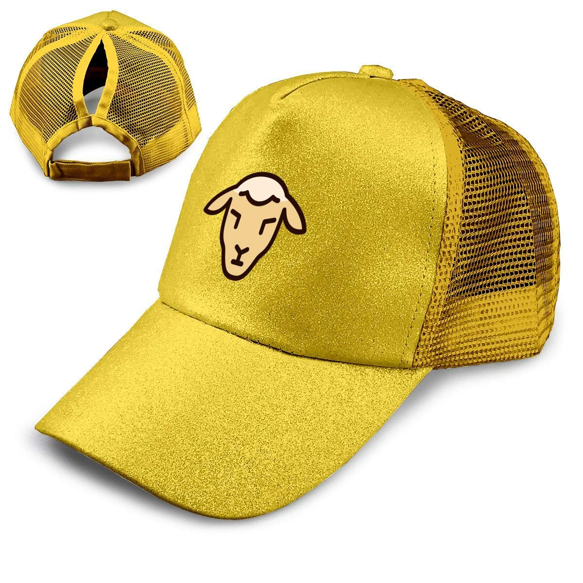 bef154d5568a3a Get Quotations · Sheep Religion Christianity Ponytail Hats for Women Messy  Trucker Hat Plain Ponytail Baseball Visor Cap
