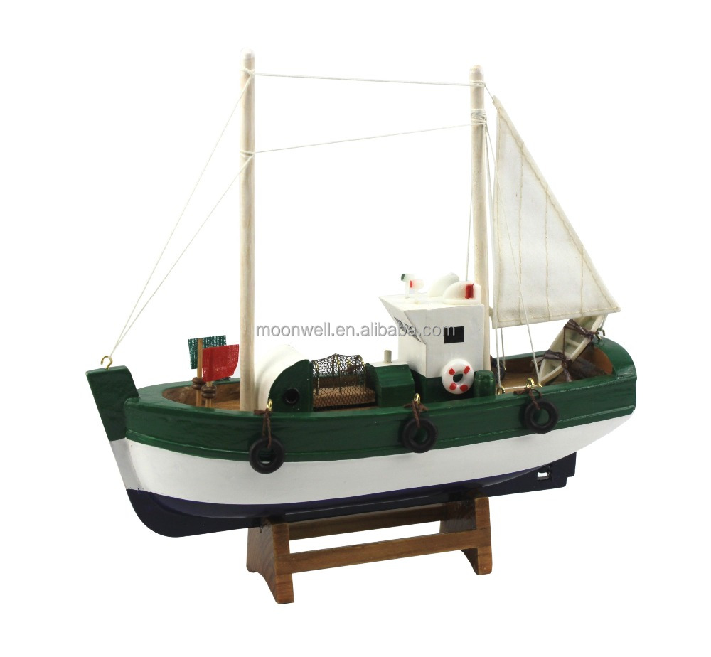 Barco de pesca de madera modelismo souvenir regalos - Regalos decoracion hogar ...