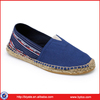 New style lady espadrille sole jute shoes
