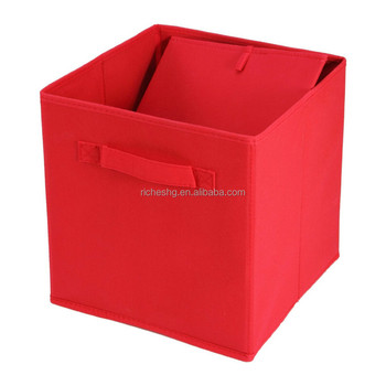premium quality collapsible 13x13x13 storage cubes with bins