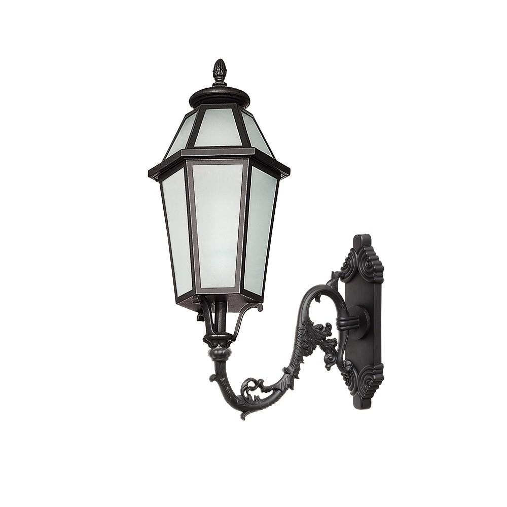Endon Brighton Half Lantern Outdoor Porch Wall Light Ip55 Led Matt Black Frosted Rht 13319