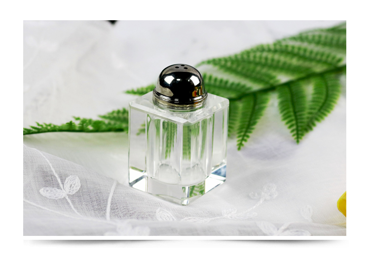 Household Kitchen Tools Glass Shaker Bottle Crystal Glass Salt Shaker