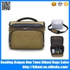 Good selling high quality waterproof custom single unisex shoulder messenger canvas camera bag with raincover