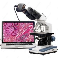 AmScope Supplies 40X-2000X LED Binocular Digital Compound Microscope w 3D Stage and USB Camera
