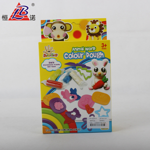 3D colorful animal mould and tool play dough toy set with Box