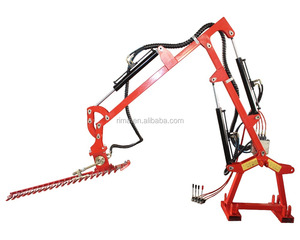 Hydraulic Hedge Cutter Mounted to Tractor
