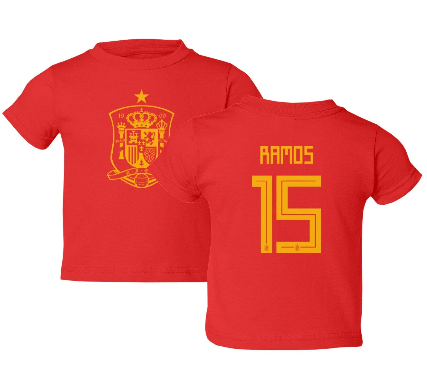 617dd5221 Get Quotations · Tcamp Spain 2018 National Soccer  15 Sergio RAMOS World  Championship Kids Toddler T-Shirt