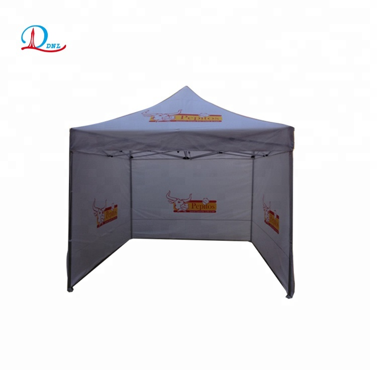 Outdoor pop up 3x3 steel frame <strong>tent</strong> with 3 sidewalls
