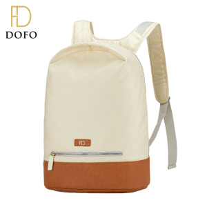 Wholesale custom vintage laptop bags outdoor canvas school backpack girl