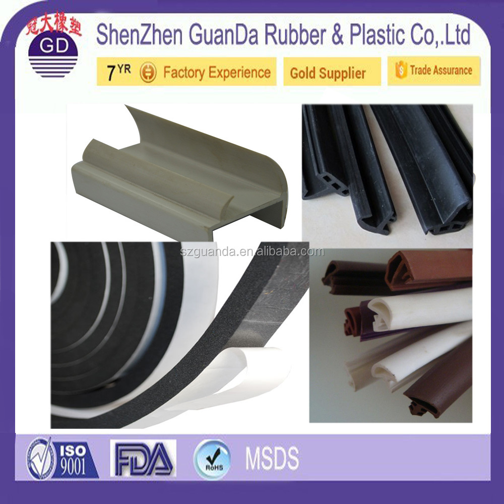 Custom Color heat-resistant 3m adhesive backed rubber strips rubber door gasket