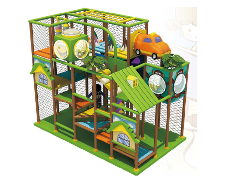 Forest themed indoor playground equipment