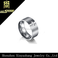 AAA Quality Cubic Zirconia 316 Stainless Steel Wedding Band Ring Collection