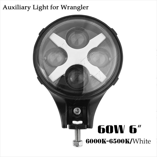 6 Inch 60w Led Work Light Universal Pedestal Mount Led Auxiliary ...