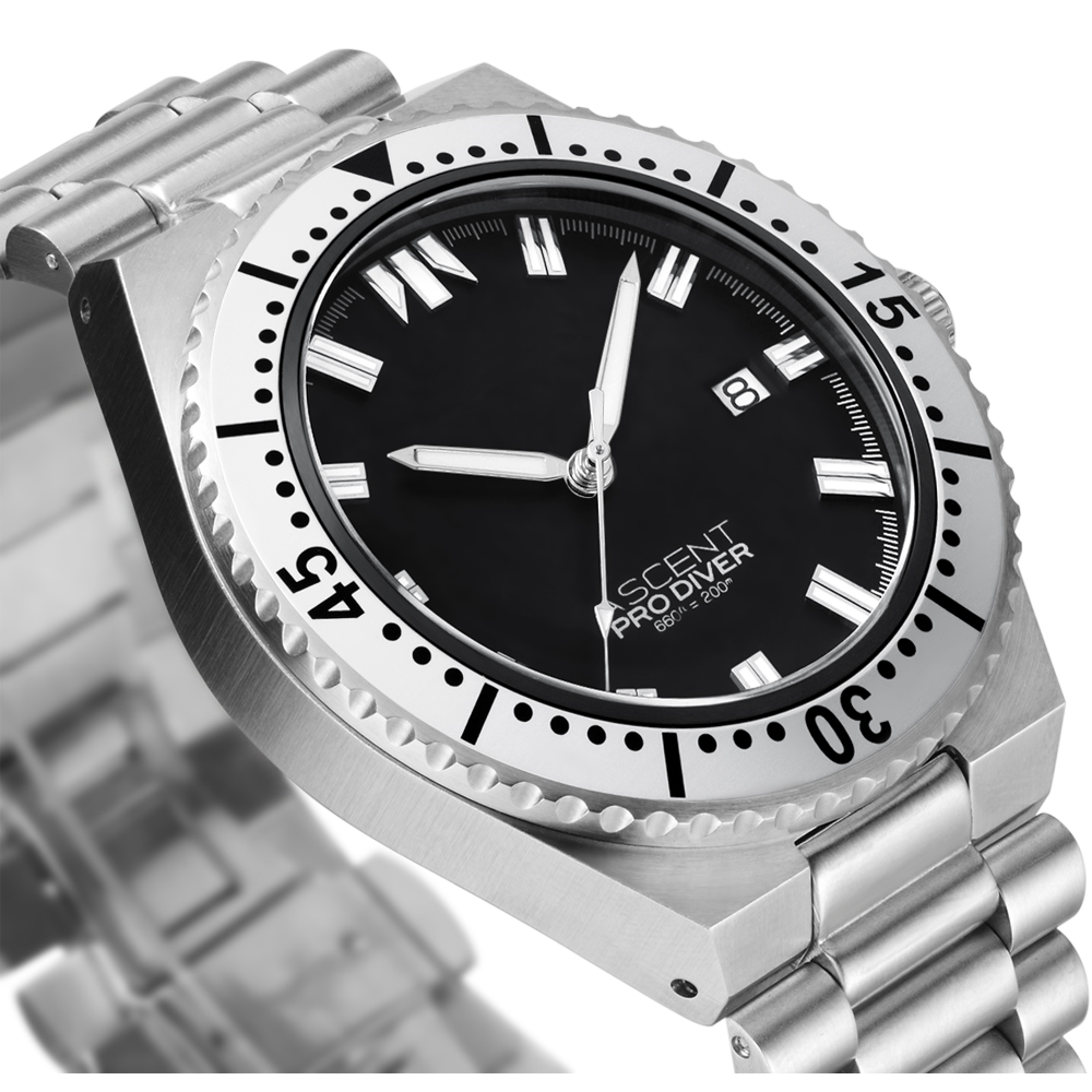 20Atm Automatic Sapphire Crystal Stainless Steel Diving Watch