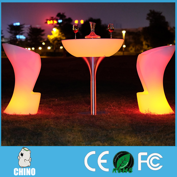 En gros ROHS FCC En Plastique Table Haute De Bar LED cocktail meubles
