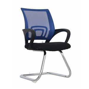 Hot Sale Black Fixed Based Staff Mesh Office Chair No Wheels Office Visitor Chair