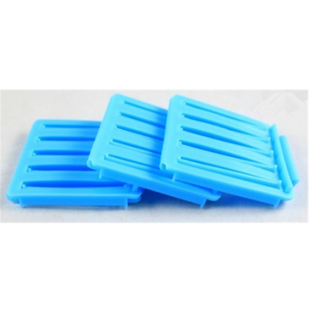 KAKA(TM) 3 Pcs Women Girl Fashion Creative Hair Roller Plastic Hair Styling Roller Curlers Clips DIY Hair Styling Clip Hair Styling Tool(Blue)