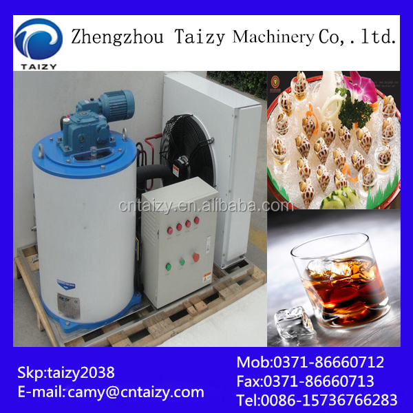 Industrail tube and block ice making machine equipped with ice crusher machine